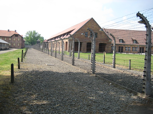 A photo from within the Auschwitz Concentration Camp, Near Krakow, Poland.