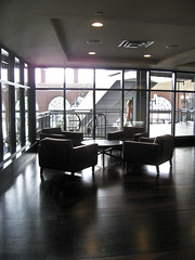 Seating area with view of the rotunda.