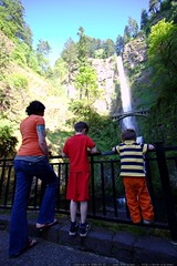 rachel and her boys checking out the waterfall    MG…
