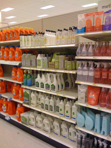 Laundry products at Target