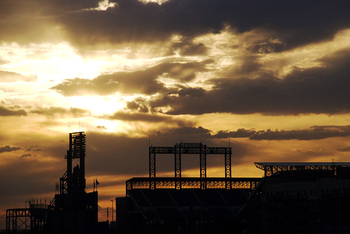 morning sky urban usa silhouette clouds sunrise rockies nikon colorado stadium denver structure coorsfield lodo d80 moosebite jrgoodwin