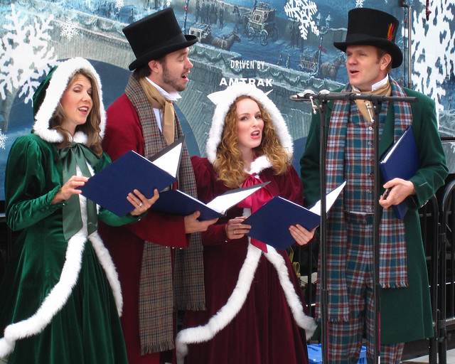 Christmas Carolers by Mike Renlund
