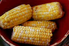 meal(0.0), breakfast(0.0), produce(0.0), dish(0.0), sweet corn(1.0), corn kernels(1.0), vegetarian food(1.0), maize(1.0), corn on the cob(1.0), food(1.0), corn on the cob(1.0), cuisine(1.0),