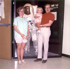 Alyce with Parents at NASA