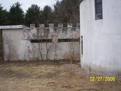 Fortress wall on the main house.
