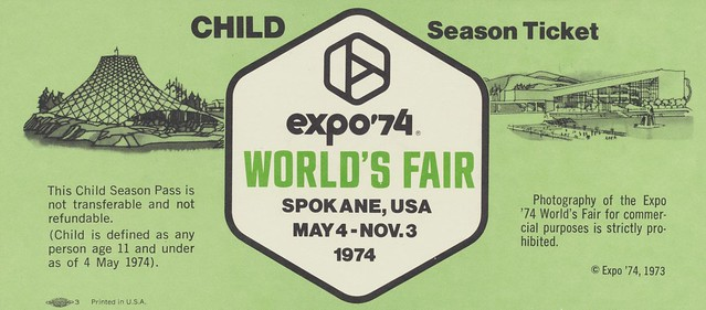 Child Season Ticket for Expo '74 - Spokane, Washington