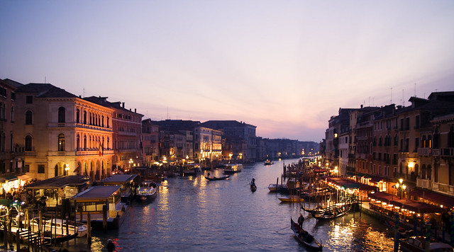 Venice Night by Flickr CC Iselin