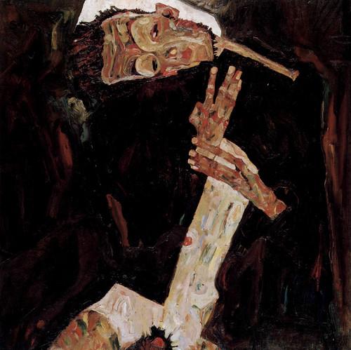 Egon Schiele Self Portrait The Poet