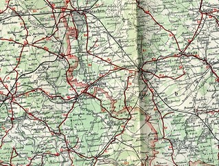 Rail network around Wolsztyn, Centre of modern European steam railway operation. 1930 map