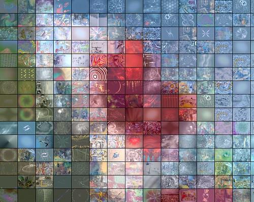 Red and White Flower - Fractal Mosaic, v.2