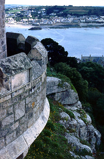 View from St.Michaels Mount back towards the causeway & mainland