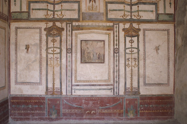 Roman mural in pompeii flickr photo sharing for Ancient roman mural