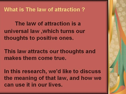 universal laws of attraction