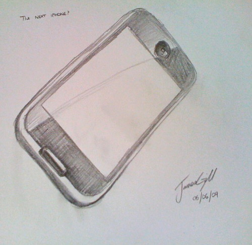 Quick Sketch Of (maybe) IPhone V3 | Flickr - Photo Sharing!