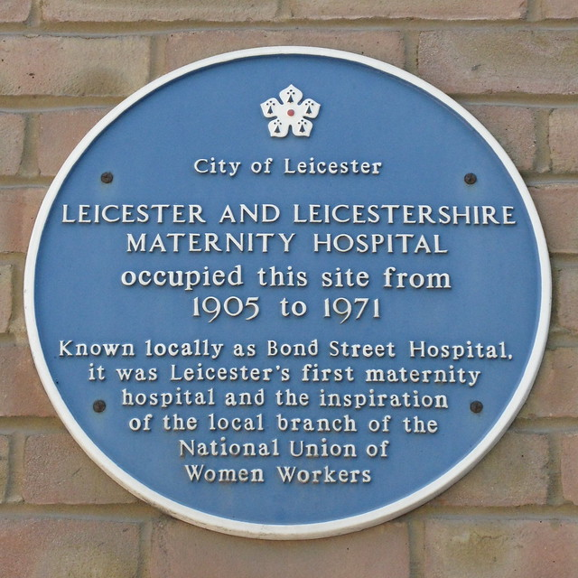 Photo of Leicester and Leicestershire Maternity Hospital blue plaque