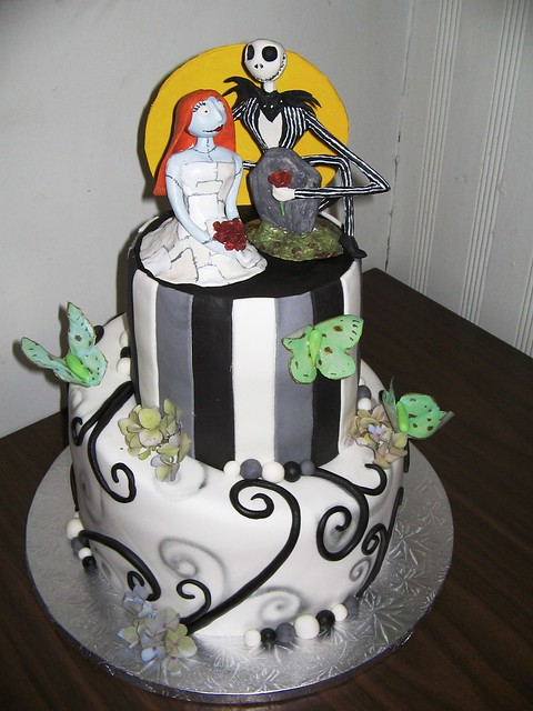 nightmare before christmas wedding cake ideas nightmare before wedding cake flickr photo 17891