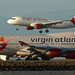 Virgin America A320 and Virgin Atlantic 747 by photo101
