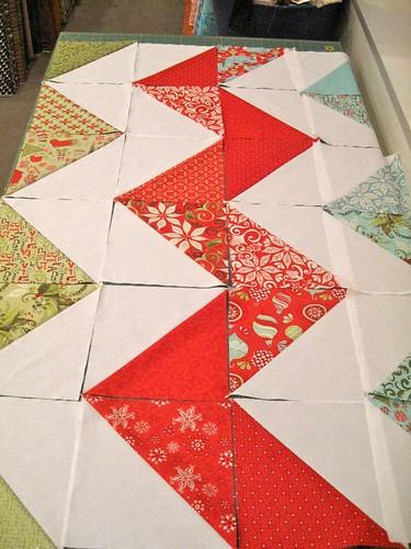 suppose half-square triangle quilt tutorial