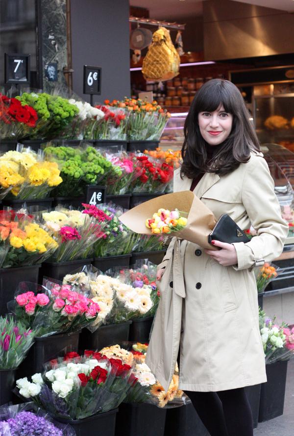 פריז, פרחים, אופנה בפריז, le marais, paris, בלוג אופנה