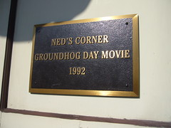Photo of Groundhog Day black plaque
