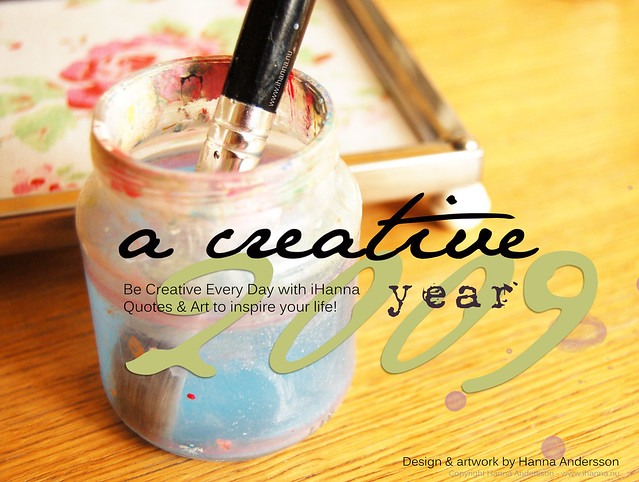 Make Your own Creative Layouts at Café Press like this Creative Year Calendar by iHanna (copyright Hanna Andersson)