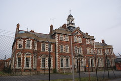 The admin block at Colindale Hospital, London.