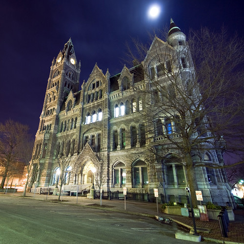 old city night virginia hall downtown cityhall gothic victorian landmark richmond historic clear skynoir oldrichmondcityhall bybilldickinsonskynoircom