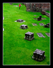 Elgin cathedral - pavimento