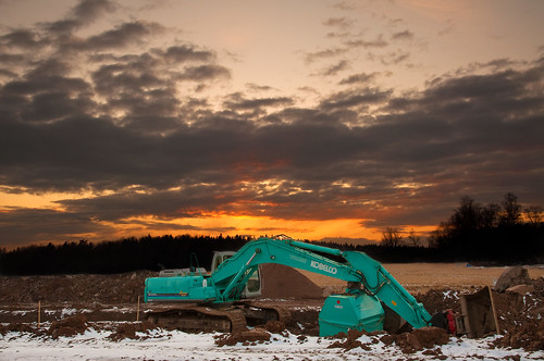 Caterpillar Sunset