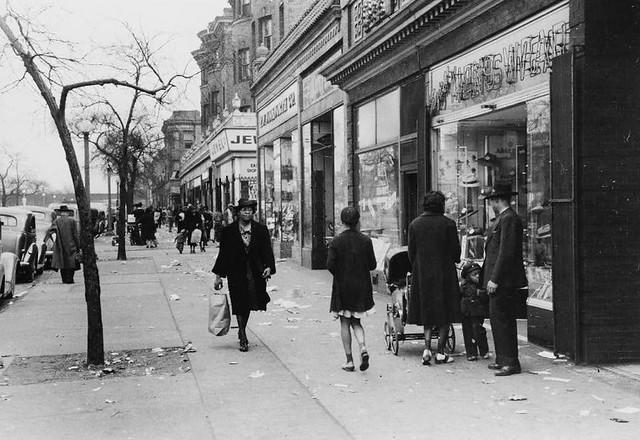 African American Street Scene, Chicago, 1941