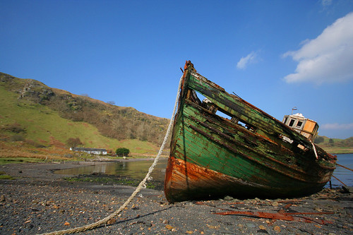 Abandoned fishing boat on Kerrera