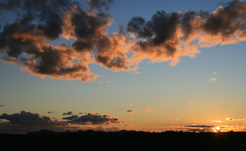 sunset arizona clouds