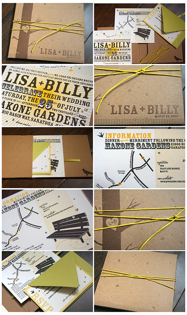 Lisa + Billy  Wedding Invitation