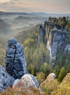 Sandstone Morning (HDR, Saxon Switzerland, Germany)