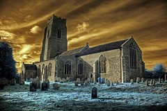 Infrared HDR St Mary's church Erpingham Norfolk