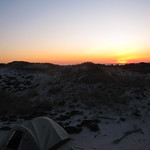 Sunset at camp, Fire Island National Seashore