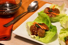 Teriyaki Meatball Wraps