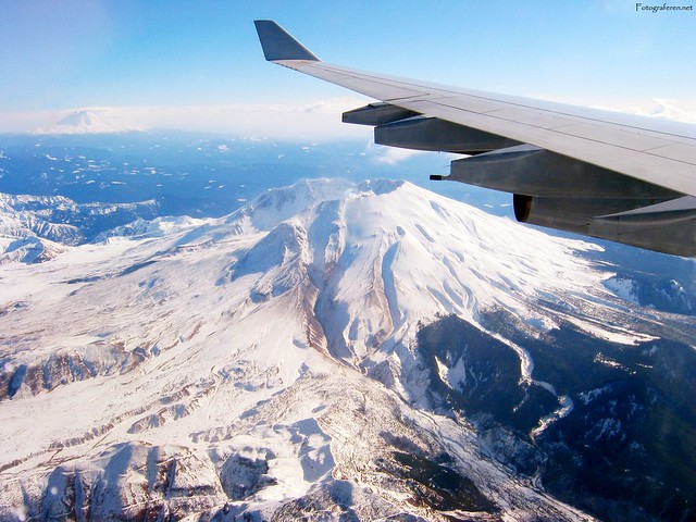 Flying over Mt.St. Helens. Washington State. 2006.