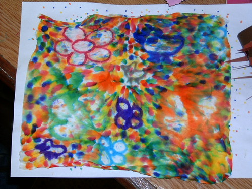 Napkins& Colored water pens