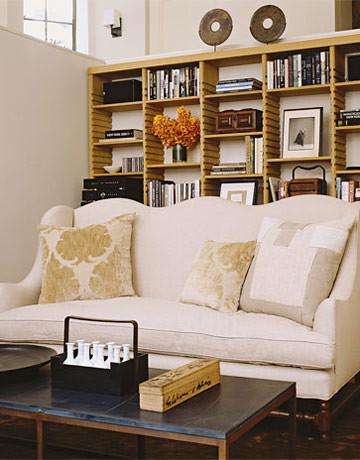 Ina Garten's Belgian-style New York apt: Custom bookscases + Farrow & Ball's 'Slipper Satin'