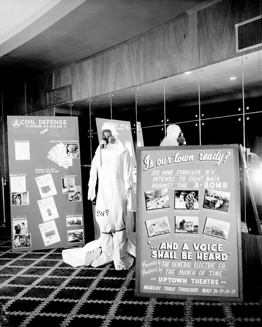 1952, Hanford Civil Defense Display at the Uptown Theater