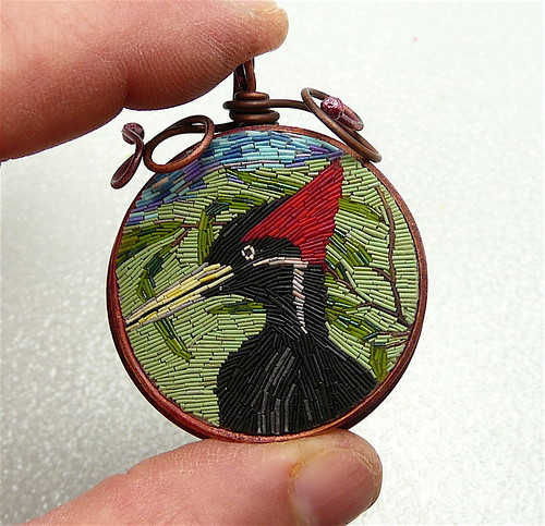 Woodpecker Micromosaic