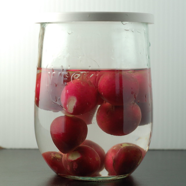 radishes in a jar
