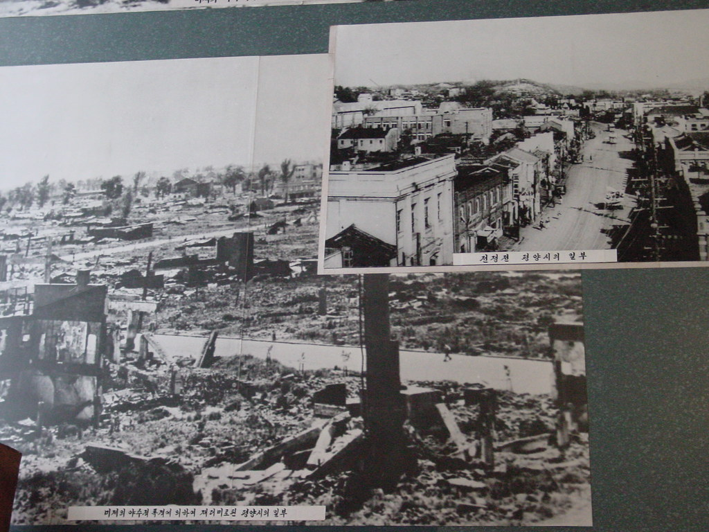 PYONGYANG BEFORE AND AFTER CARPET BOMBING