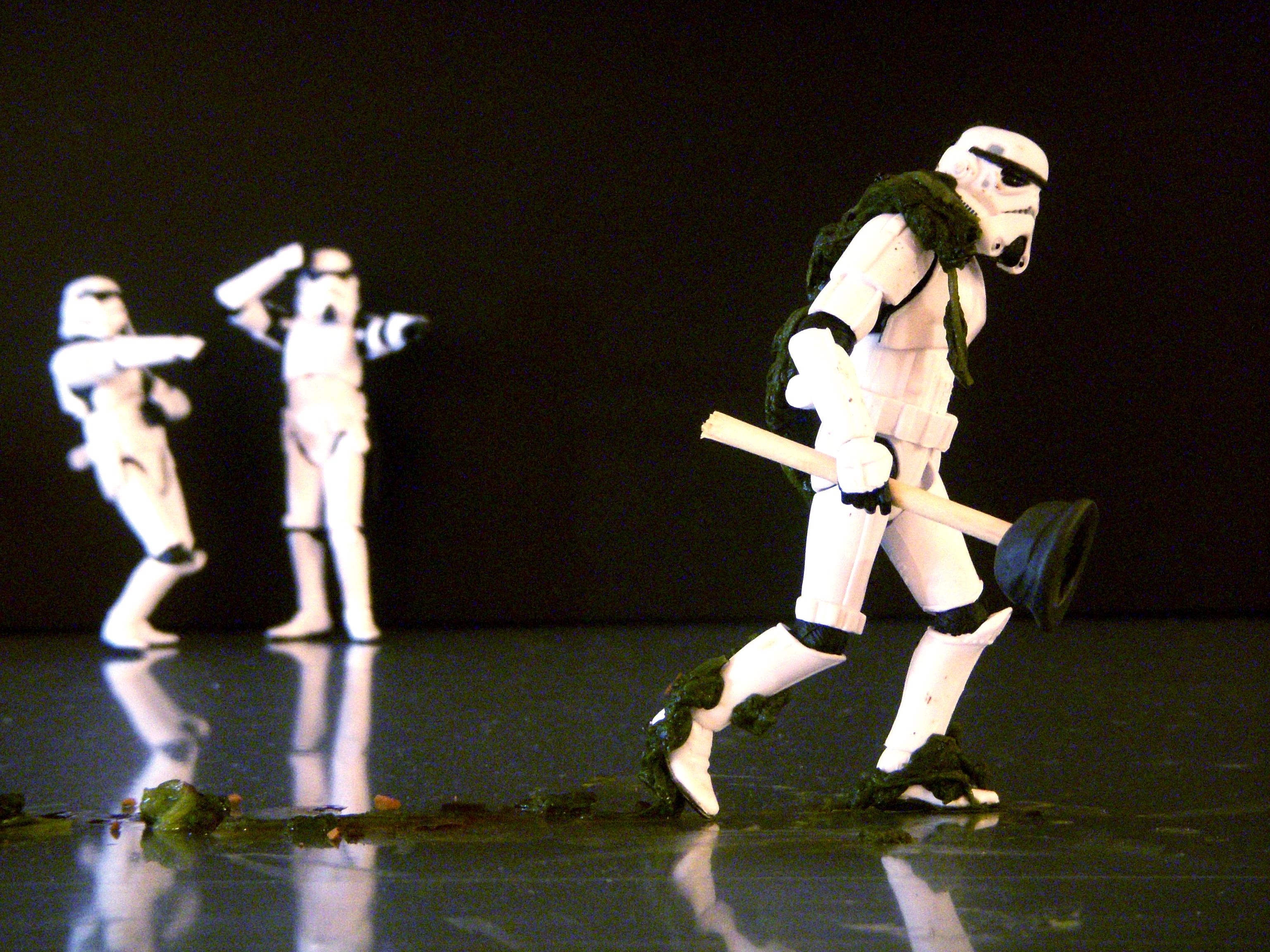 foto graciosa de juguetes Star Wars