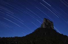 Another take on Mt Coonowrin at night | by Meg Forbes
