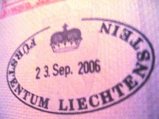 Liechtenstein passport stamp, 2006