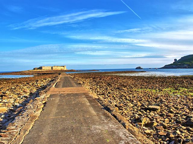 Causeway to Fort Raz - Alderney