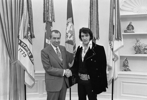 Richard M. Nixon and Elvis Presley at the White House