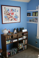 living room(0.0), nursery(0.0), art(1.0), shelving(1.0), shelf(1.0), furniture(1.0), room(1.0), interior design(1.0),